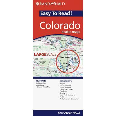 Rand Mcnally Easy to Read Colorado By Rand McNally and Company (COR)
